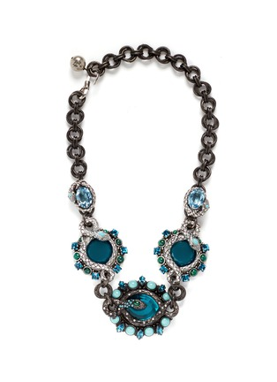 Main View - Click To Enlarge - Lanvin - 'Lucrezia' glass stone pewter collar necklace