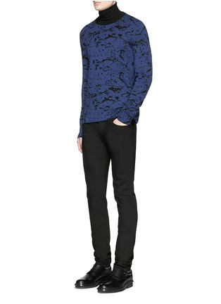 Figure View - Click To Enlarge - Lanvin - Reversible splash jacquard cotton-wool sweater