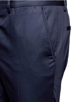 Detail View - Click To Enlarge - Lanvin - Cotton gabardine chinos