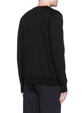 Back View - Click To Enlarge - ALEXANDER MCQUEEN - Stripe intarsia cotton sweater