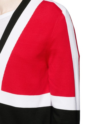 Detail View - Click To Enlarge - Alexander McQueen - Colourblock intarsia cotton sweater
