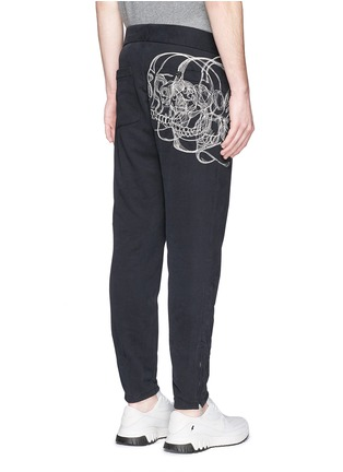 Back View - Click To Enlarge - Alexander McQueen - Skull sketch embroidery jogging pants