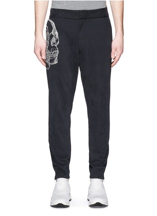 Main View - Click To Enlarge - ALEXANDER MCQUEEN - Skull sketch embroidery jogging pants