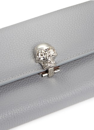 Detail View - Click To Enlarge - Alexander McQueen - Skull leather continental wallet