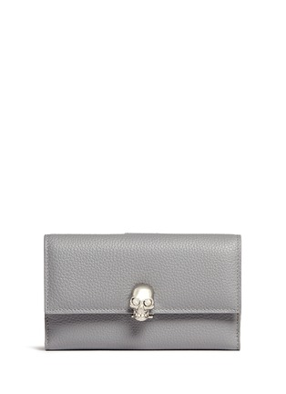 Main View - Click To Enlarge - Alexander McQueen - Skull leather continental wallet