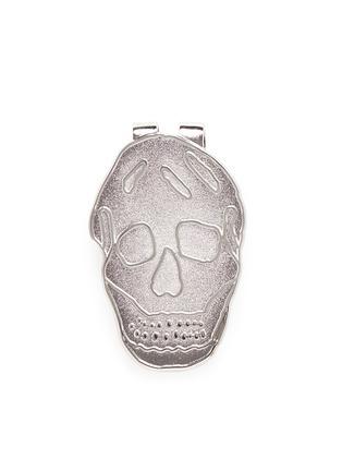 Main View - Click To Enlarge - ALEXANDER MCQUEEN - Engraved skull enamel money clip