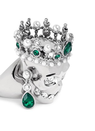 Detail View - Click To Enlarge - Alexander McQueen - Royal skull ring
