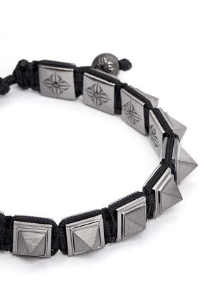 Detail View - Click To Enlarge - Shamballa Jewels - 'Pyramid' black diamond 18k gold bracelet