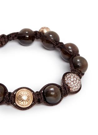 Detail View - Click To Enlarge - SHAMBALLA JEWELS - 'Shamballa' diamond 18k rose gold bracelet