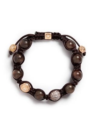 Main View - Click To Enlarge - SHAMBALLA JEWELS - 'Shamballa' diamond 18k rose gold bracelet