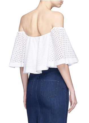 Back View - Click To Enlarge - Nicholas - Broderie anglaise cotton off-shoulder top