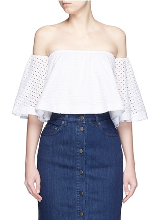 Main View - Click To Enlarge - Nicholas - Broderie anglaise cotton off-shoulder top