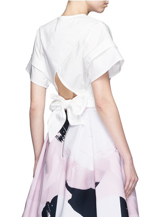 Back View - Click To Enlarge - Nicholas - Sash waist cotton poplin cropped top