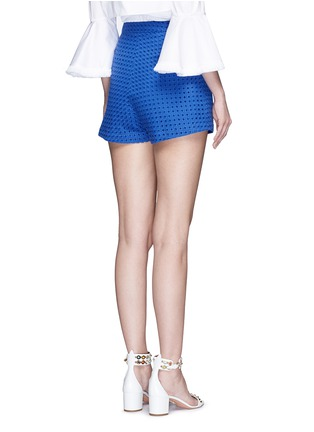Back View - Click To Enlarge - Nicholas - Tailored broderie anglaise shorts