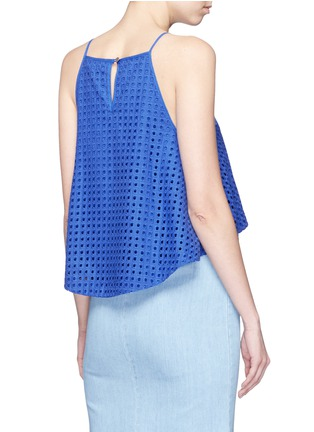 Back View - Click To Enlarge - Nicholas - Broderie anglaire flare camisole top