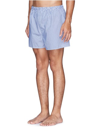 Figure View - Click To Enlarge - Sunspel - Stripe cotton boxers
