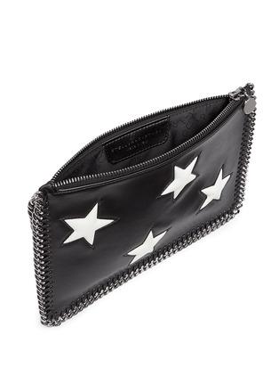 Detail View - Click To Enlarge - Stella McCartney - Contrast star appliqué chain zip purse