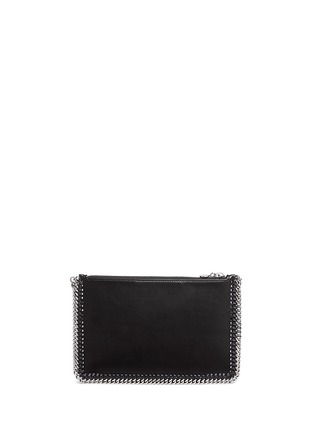 Back View - Click To Enlarge - Stella McCartney - Contrast star appliqué chain zip purse