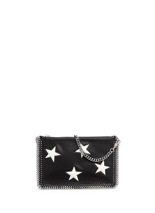 Main View - Click To Enlarge - Stella McCartney - Contrast star appliqué chain zip purse