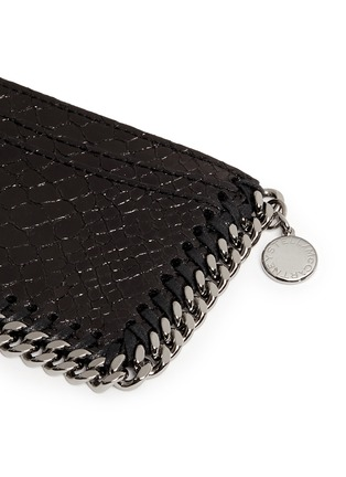 Detail View - Click To Enlarge - Stella McCartney - 'Falabella' chain border snake effect card holder