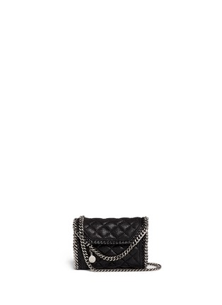 Main View - Click To Enlarge - Stella McCartney - 'Falabella' tiny quilted crossbody chain bag