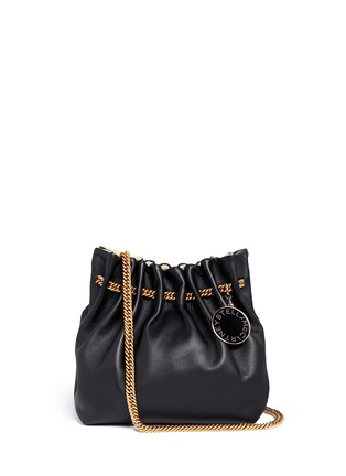 Main View - Click To Enlarge - Stella McCartney - 'Noma' curb chain eco leather bucket bag
