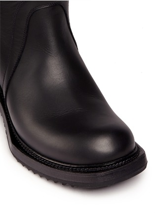 Detail View - Click To Enlarge - Rick Owens - Leather biker boots