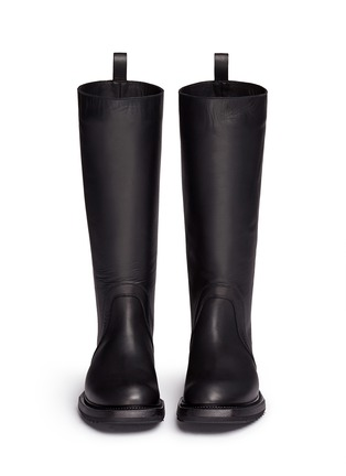 Front View - Click To Enlarge - Rick Owens - Leather biker boots