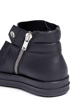 Detail View - Click To Enlarge - Rick Owens - Island Dunk' leather laceless sneakers
