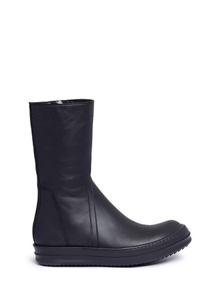Main View - Click To Enlarge - Rick Owens - Zip leather sneaker boots