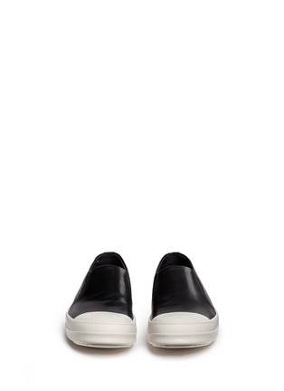 Front View - Click To Enlarge - Rick Owens x BIRKENSTOCK - Leather boat skate slip-ons