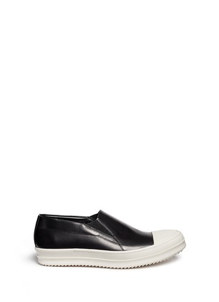 Main View - Click To Enlarge - Rick Owens x BIRKENSTOCK - Leather boat skate slip-ons