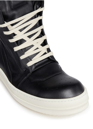 Detail View - Click To Enlarge - Rick Owens x BIRKENSTOCK - 'Geobasket' high top leather sneakers