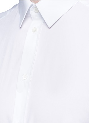 Detail View - Click To Enlarge - Dolce & Gabbana - 'Gold' slim fit cotton shirt