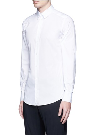 Front View - Click To Enlarge - Dolce & Gabbana - 'Gold' slim fit cotton shirt