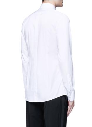 Back View - Click To Enlarge - - - 'Gold' piqué bib tuxedo shirt