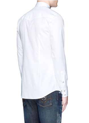 Back View - Click To Enlarge - Dolce & Gabbana - Slim fit Sicilian cowboy embroidery cotton shirt