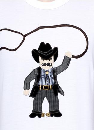 Detail View - Click To Enlarge - Dolce & Gabbana - Sicilian cowboy appliqué T-shirt