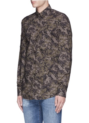 Front View - Click To Enlarge - Dolce & Gabbana - Digital camouflage print military shirt