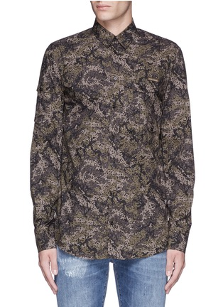 Main View - Click To Enlarge - Dolce & Gabbana - Digital camouflage print military shirt