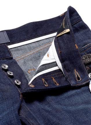 - Dolce & Gabbana - 'Gold 10' slim fit cat embellished jeans