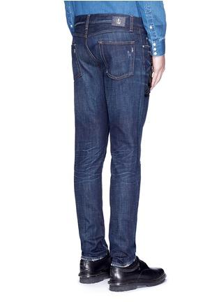 Back View - Click To Enlarge - Dolce & Gabbana - 'Gold 10' slim fit cat embellished jeans