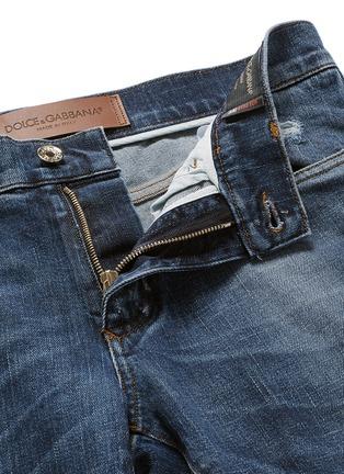 - Dolce & Gabbana - 'Stretch 14' slim fit medium wash distressed jeans