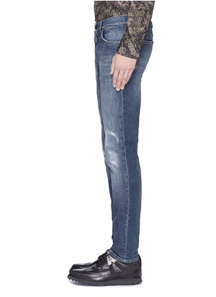 Detail View - Click To Enlarge - Dolce & Gabbana - 'Stretch 14' slim fit medium wash embroidered jeans