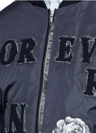 Detail View - Click To Enlarge - - - 'LOVE' patch appliqué bomber jacket