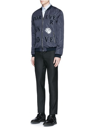 Figure View - Click To Enlarge - Dolce & Gabbana - 'LOVE' patch appliqué bomber jacket