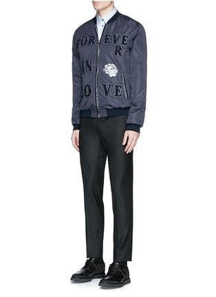 Figure View - Click To Enlarge - - - 'LOVE' patch appliqué bomber jacket