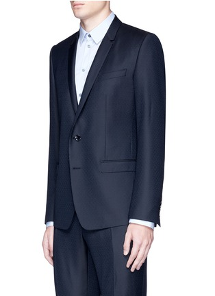 Front View - Click To Enlarge - Dolce & Gabbana - 'Gold' slim fit wool jacquard suit