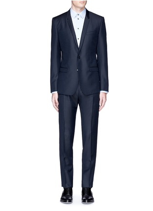 Main View - Click To Enlarge - Dolce & Gabbana - 'Gold' slim fit wool jacquard suit