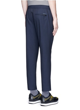 Back View - Click To Enlarge - Dolce & Gabbana - Slim fit drawstring wool-cotton pants